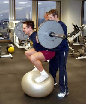 Squat on ball